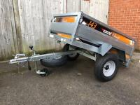 Erde 143 tipping trailer new with extras