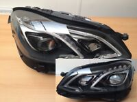 Car part: New OEM left hand drive Bi-xenon ILS headlights Mercedes E Class W212 2010 -2016