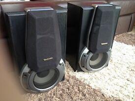 Pair of Technics hi fi stereo speakers EH760 plus SBPS75