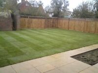 Gardening, turfing, flagging, fencing. Wow!! 50% off this month!!