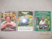 Gardeners World hardback books x 3 - Garden