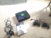 Vintage xbox still in original box x2 controllers ready to go.