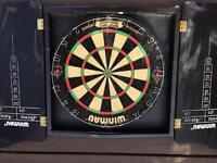 Bristle Dart Board And Cabinet