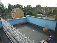 To LET. AVAIL NOW. 3 Bed 1st floor Flat. Roof Terrace. Wood & Carpets, Furnished. Train station