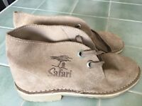 Safari Boots Beige suede/leather