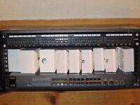 Network switch, case, network wall sockets and cables