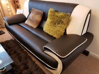QUALITY USED LEATHER SOFA-2 X 3 SEATERS AND 2 SEATER-GRAB YOUR BLACK FRIDAY BARGAIN SALE