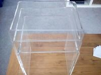 Modern Set of 3 clear acrylic/perspex tables