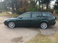 2003 FORD MONDEO TDCI DIESEL GHIA X ESTATE CAR, 6 SPEED. 55 MPG, ALLOYS, ,LONG MOT.