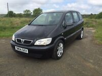 2004 VAUXHALL ZAFIRA 2.0DTI BLACK ONLY 66K - DIESEL MPV - 7 SEATER - YEARS MOT - IDEAL FAMILY CAR