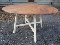 Gorgeous Ercol Solid Elm Drop-Leaf Extending Dining Table Painted Farrow & Ball - Osmo Polyx Oil