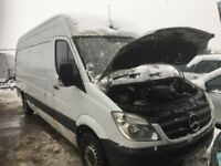 Mercedes Benz sprinter van parts engine gearbox rear axel prop shaft calaper wheel