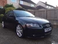 2006 Audi A3 2.0TDi S-Line S3 Alloys, Leather, Sat-Nav/DVD/Blutooth, coilovers, decat