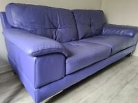 DFS leather sofa with matchinglarge stool