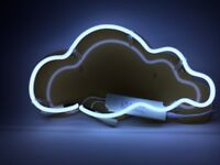 Brand new White cloud neon wall light with acrylic backing and AC adapter.