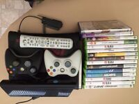 Xbox 360 with Kinect- 2 Controllers, 10+Games & Accessories (Will take offers)
