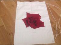 Sanderson hotel cloth laundry bag
