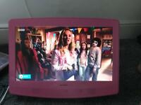 """Pink girls bedroom tv and DVD 19"""""""