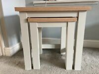 Grey Oak Nest of Side Tables (Excellent Condition)