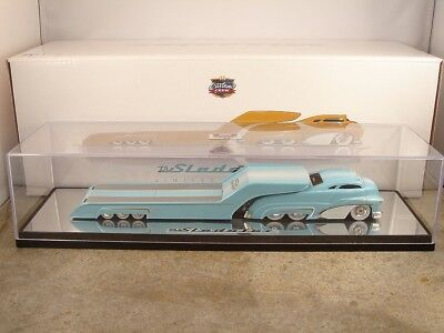 Light Blue Fade Sledster Flatbed CHASE Custom Crew Hot Wheels Drag Bus Evo
