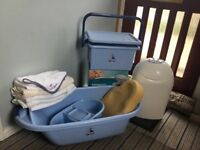 Baby Bath Set with Sanganic Nappy Box