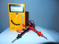 Mapin M303 Digital Multimeter Tester Uk Volt Range Current Checker Buzzer Handhe
