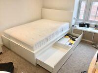 White Ikea Storage Bed - Double