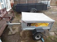 Erd 102 TIPPER TRAILER With Cover USED FOR Garden Camping Carboot DIY