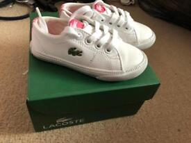 Girls Lacoste trainers