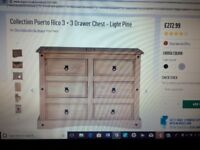 For Sale 6 Drawer chest. Argos Collection Puerto Rico Dark pine. Current stock