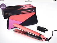 Ghd pink limited edition hair irons straightners