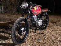 Honda cg125 cafe racer brat bike custom modified