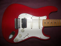 Fender Stratocaster HSS Mexico , Mexican , MIM , Electric Guitar 1996-1997 + Gig Bag. / Red.