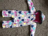 Girls snowsuit 12-18 months
