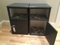 Bedside / side table/ unit /cabinets - grey - shabby chic - upcycled