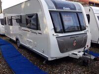 SUPERB 2016 Elddis Affinity 554 SoLiD Fixed Transverse Island Bed, End Washroom Caravan