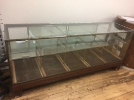 Designer glass shop display cabinet
