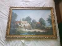 Large picture in vintage frame