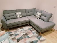 ** Brand new grey French Connection Zinc corner sofas - 2 months old, excellent condition **