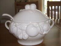 Large White Serving Tureen