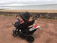 Graco double buggy stroller with car seat