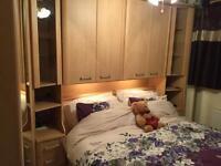 Fitted bedroom furniture including king size bed frame £250.00