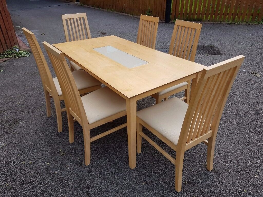 Modern Dining Table   6 Chairs FREE DELIVERY 159Modern Dining Table   6 Chairs FREE DELIVERY 159   in Leicester  . Old Dining Chairs Leicester. Home Design Ideas