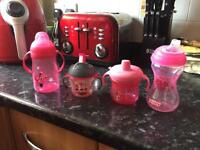 Selection of baby girls cups