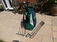 Full set used Slazenger Mass IV golf clubs from 3 iron through to sand iron