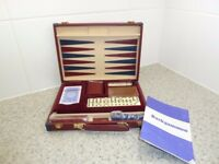NEWNAND UNUSED CLASSIC GAMES COMPENDIUM IN NEAT FAUX LEATHER CARRY CASE