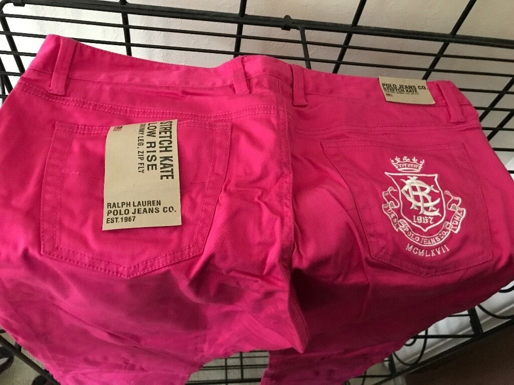 Polo RL jeans Hot pink BNWT 32x32in Bournemouth, DorsetGumtree - Polo Ralph Lauren Hot pink jeans 32x32 brand new smoke/pet free home, BNWT stretch jeans