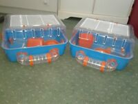 For sale Two hamster cages.