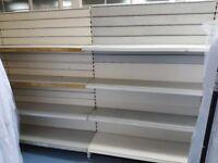 Gondola shelves. Double sided shelving unit