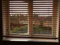 3 sets of wooden blinds light oak